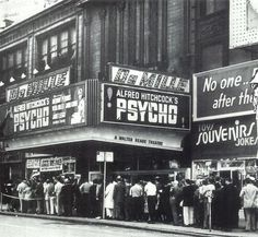 """Psycho"" opened in New York City at the DeMille Theater (and the Baronet) on Thursday June 16th 1960."