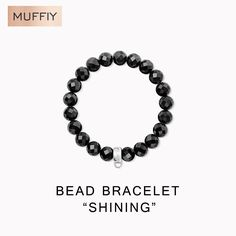 Black Stone Bracelet,Thomas Style Glam Fashion Good Fashion Jewerly For Women,2017 Ts Gift In 925 Sterling Silver,Super Deals