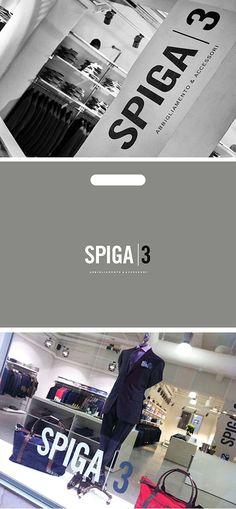 Spiga 3, boutique. (concept, idea, logo, web, bags, ads, naming) Names, Concept, Boutique, Logos, Silver, Logo, Boutiques, Money