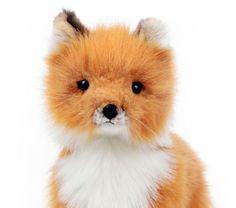 miss oh/Stuffed Plush Soft Toy Fox Baby Standing/27cm.H#6995 Stofftier realistic #hansatoy