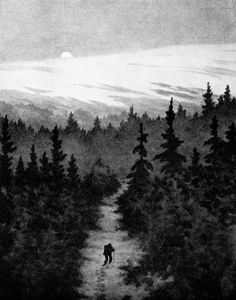 Image discovered by Waldpoesie. Find images and videos about forest and theodor kittelsen on We Heart It - the app to get lost in what you love. Most Popular Artists, Great Artists, Theodore Kittelsen, Norwegian Wood, Folk, The Draw, Art Database, Design Graphique, Nature Paintings