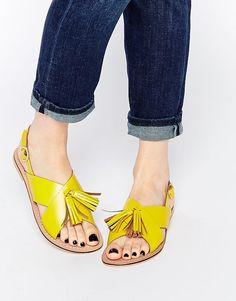 ASOS   ASOS FOXTROT Leather Tassel Sandals at ASOS