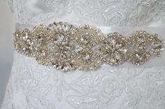 Wedding Belt Bridal Belt Sash Belt Crystal by WestaireBridal