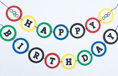 Olympic Inspired Banner   Olympic Inspired Garland   Olympic Birthday   Olympics…