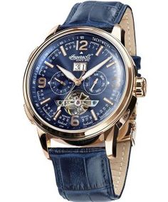 INGERSOLL CONNECTICUT Automatic Blue Leather Strap IN1222RGBL Ingersoll Watches, Connecticut, Leather, Blue