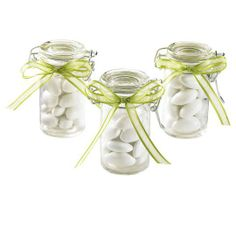 Celebrate It Occasions Glass Snap-On Top Favor Jars