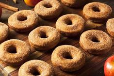 A delicious recipe for gluten free apple cider donuts. This recipe is a conversion of The Chew's gluten version and is just as delicious. Apple Doughnut, Apple Cider Donuts, Gluten Free Bakery, Gluten Free Recipes, Gf Recipes, Healthy Recipes, Donut Recipes, Whole Food Recipes, Paleo Meal Plan