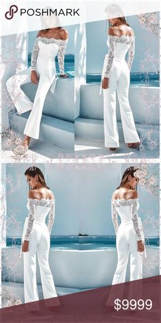 2cdf283a222 🦉coming soon 🦉gorgeous white jumpsuit Coming soon absolutely beautiful  white jumpsuit Pants Jumpsuits