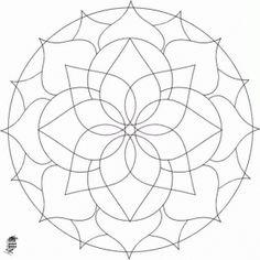 11 Mandalas para colorear con figuras geométricas (1)