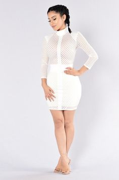 Sight to See Dress - White