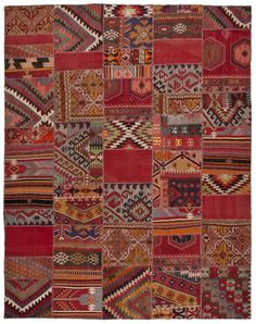 Love this patchwork rug from Loom rugs. I want it on my floor.