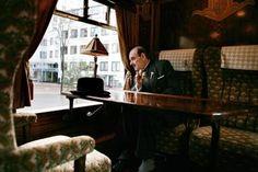 Hercule Poirot on the original Orient Express, blogs.howstuffworks.com