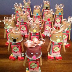 Kids snack warriors/reindeers/robots...possibility is endless. Perfect for school parties.