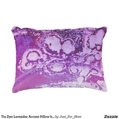 Tie Dye Lavender Accent Pillow by Janz