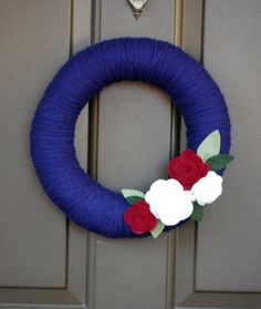 Simple 4th of July Wreath
