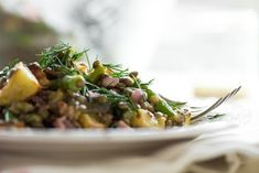 Roasted Potato and Asparagus Lentil Salad with Tangy Mustard-Lemon Dressing — Oh She Glows