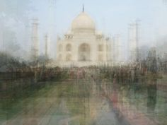 Art project: layered photos of famous landmarks