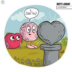 Mente y corazón Heart Vs Brain, My Favourite Subject, Emoticon, Memes, Laugh Out Loud, Funny Quotes, Cartoon, Feelings, Kids Psychology