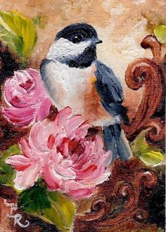 Art: Regal Perch by Artist Paulie Rollins Pretty Birds, Beautiful Birds, Bird Artwork, Mini Paintings, Bird Pictures, Art Portfolio, Beautiful Paintings, Decoupage, Painting Inspiration