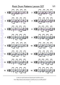 Idea's page 38 has 16 skip beats rock drum patterns. Drum Sheet Music, Drums Sheet, Drum Lessons, Music Lessons, Guitar Lessons, Drum Notes, Drum Rudiments, Bucket Drumming, Drum Patterns