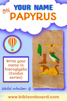 like baby Moses growing up in Egypt learn how to write your name on a piece of faux papyrus Baby Moses, Bible Crafts, Growing Up, Egypt, Kids Rugs, Names, Activities, Writing, Learning