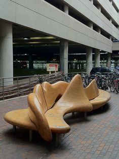Two Sculptural Benches (1984) William Keyser, Alewife T Station. DiscoverNorthCambridge.com