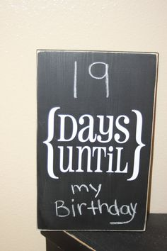 Chalk Board Count Down Board  vertical  With vinyl by invinyl, $18.00