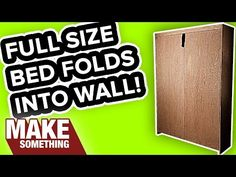 How to Make a Murphy Bed Video - Build your own Murphy bed. Perfect for a guest bedroom or study.