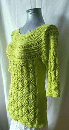 Pulóvrik (bavlna,hodváb)- jarná zeleň