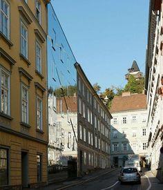 The Stadthaus Ballhausgasse or Broken Mirror house in Austria by Hope of Glory architektur