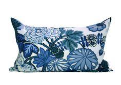 Schumacher Chiang Mai Dragon lumbar pillow cover in China Blue British Colonial Bedroom, Pillow Inserts, Pillow Covers, Grey Throw Pillows, Blue Home Decor, Blue China, Modern Colors, Chiang Mai, Lumbar Pillow