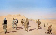A painting of the spot where the artist was shot by the Taliban