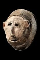 Tanzania, Makonde - masks made from terracotta were totally unknown until Wembah-Rashid saw two of them in 1986 which were supposed to be used during women's in...