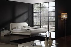 Trent Modern Leather Bed Frame Modern Bedroom Furniture, Furniture Decor, White Leather Bed Frame, Thought For Today, White Bedding, Couch, Accent Walls, Home Decor, Bedroom Ideas