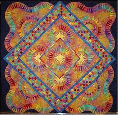 "Dorothy Alliss says: ""A few years ago I saw this (""Joy"") quilt in a magazine and fell in love with it."" The quilt design was by Jacqueline deJonge  Arizona Quilt Show"