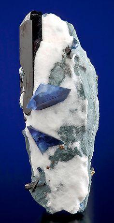 Benitoite & Neptunite, San Benito, California USA / Mineral Friends <3