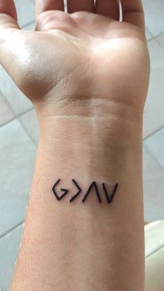 My tattoo! Got it in July of 2015. It means God is greater than the highs and lows.