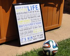 The perfect coaches gift, and it can be customized with different colors - Soccer Is Your Life!