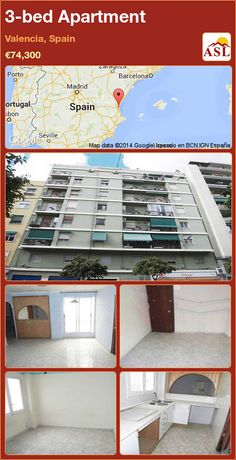 3-bed Apartment in Valencia, Spain ►€74,300 #PropertyForSaleInSpain