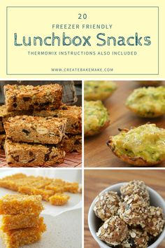 I've put together a collection of 20 freezer friendly lunchbox snacks for kids, which all can be made conventionally or using a Thermomix.
