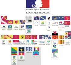 Current and historical flags of the regions of France
