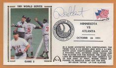 Ron Gant BLEM 1991 World Series Signed Gateway Stamp Envelope - Atlanta Braves #AtlantaBraves
