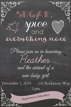 Sugar and Spice Baby Shower Invitation by BChiltonCreations, $9.99