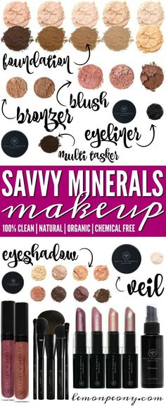 Minerals Makeup Products by Young Living Savvy Minerals Natural Makeup! Chemical Free and Safe Makeup Products from Young Living! Chemical Free and Safe Makeup Products from Young Living! Young Living Makeup, Young Living Oils, Young Living Products, All Natural Makeup, Organic Makeup, Natural Beauty, Yl Essential Oils, Young Living Essential Oils, Maybelline
