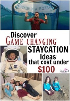 These staycation ideas are game-changing! Crazy creative ideas for any budgets! Looks like it's going to be an awesome spring and summer FILL with load of staycation memories for our family! AD SearsMasterCard