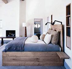 base de lit en bois