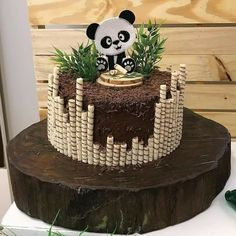 Cake fondant baby sweets Ideas for 2019 Baby Cakes, Baby Shower Cakes, Cupcake Cakes, Panda Party, Panda Birthday Cake, Bolo Panda, Panda Baby Showers, Panda Cakes, Fondant Baby