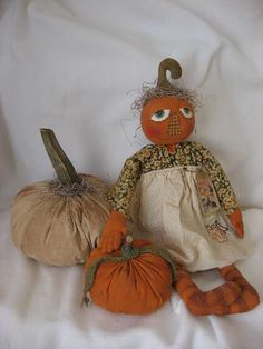 Ratatouille Little pumpkin Doll and pumpkin from Cathyraggedy