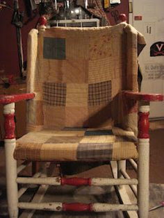 quilt chair - would love to make a pair of these for the garden shed porch!