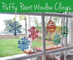 Your little ones can add some holiday cheer to your windows with these Simple Christmas Window Clings. Winter crafts cannot get any better than this for your kids because they get to make their own window clings out of paint! Christmas Activities, Christmas Crafts For Kids, Christmas Projects, All Things Christmas, Simple Christmas, Holiday Crafts, Holiday Fun, Christmas Holidays, Christmas Decorations